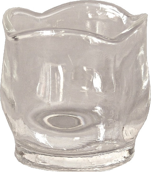 Votiv Tulip shaped Clear Glass Candle Holder