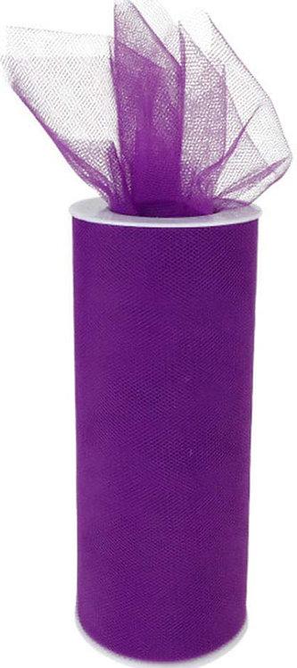 6 Inches * 25 Yards - Eggplaant Purple