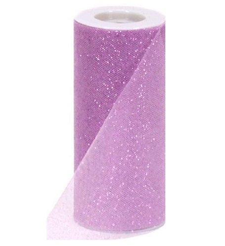 6 Inches * 25 Yards Glitter Roll - Lavender