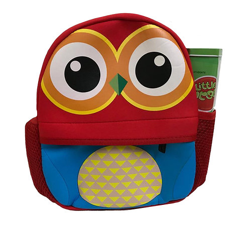 Water Resistant Cute Neoprene Insulated Small Backpack - Owl