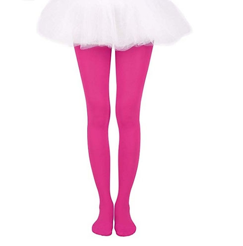 Soft Stockings / Footed Tights (5-7 Y) Raspberry
