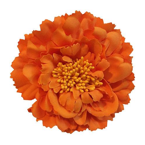 Camellia Hair Flower Clip /  Pin Brooch for Women & Kids - Orange