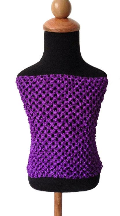 TuTu Crochet Top - Purple