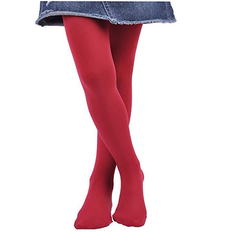 Soft Stockings / Footed Tights (5-7 Y) - Wine Red