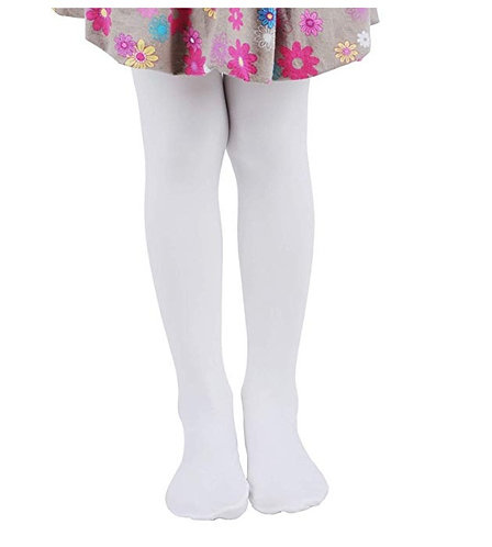 Soft Stockings / Footed Tights (5-7 Y) White