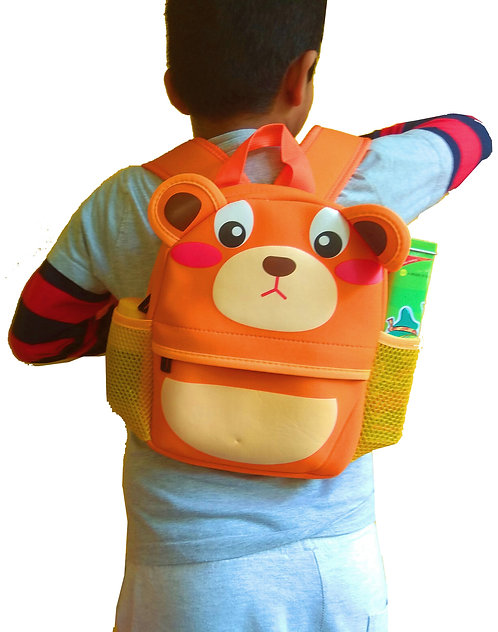 Water Resistant Cute Neoprene Insulated Small Backpack - Puppy