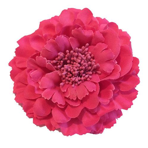 Camellia Hair Flower Clip /  Pin Brooch for Women & Kids - Raspberry