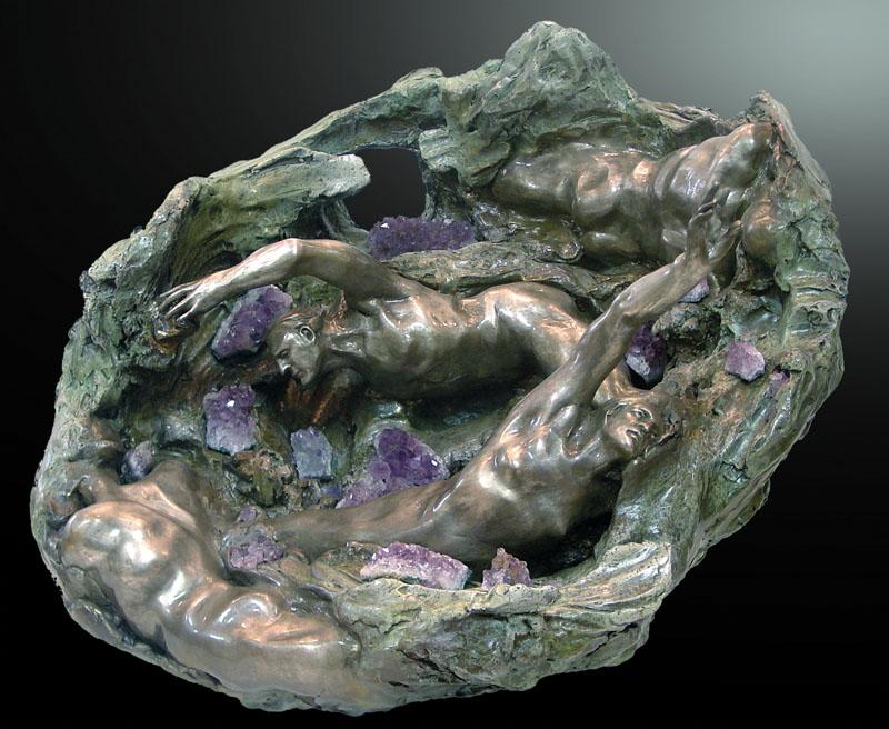 Amethyst Geode Grand Casement Bronze