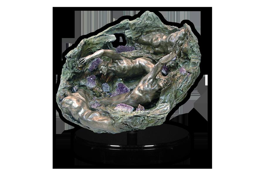 Amethyst Geode Grand Casement Bronze