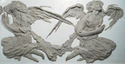 The Los Angeles Angel Frieze Clay