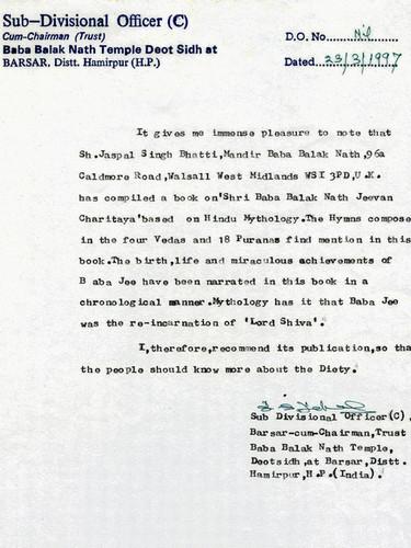 Official Letter