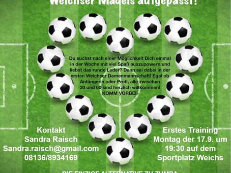 1. Damenmannschaft für den SV Weichs gesucht!