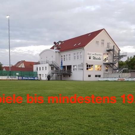 Spielbetrieb in Bayern bis auf weiteres ausgesetzt