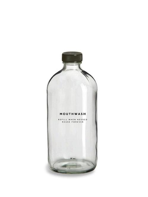 Glass Mouthwash Bottle