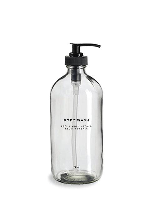 Glass Body Wash Bottle