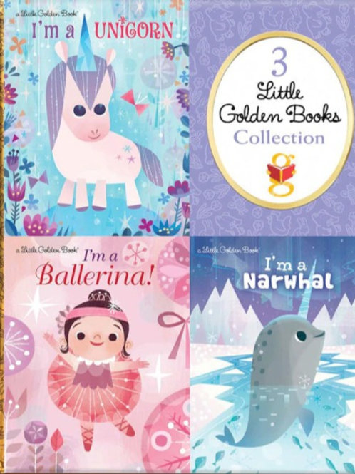 3 Little Golden Books Collection with I'm a Unicorn