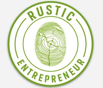 Circle Die Cut Sticker - Rustic Green