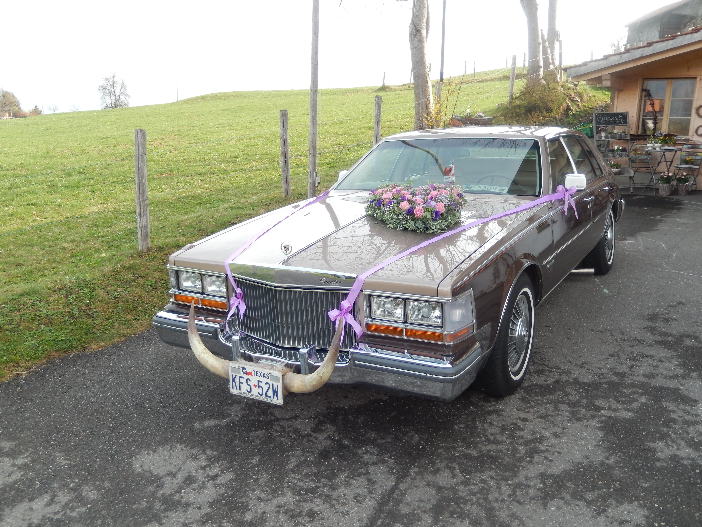 Hochzeitsauto geschmückt