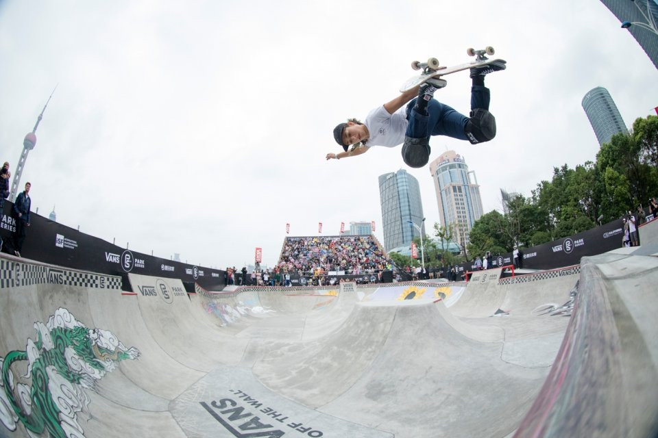 Pro Skateboarder Lizzie Armanto, 2017 Vans Park Series World Championships in Shanghai, China    Photo: Anthony Acosta