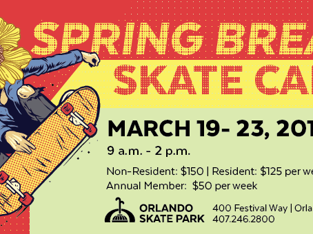 Spring Break Skate Camp! Starts Monday March 19th!