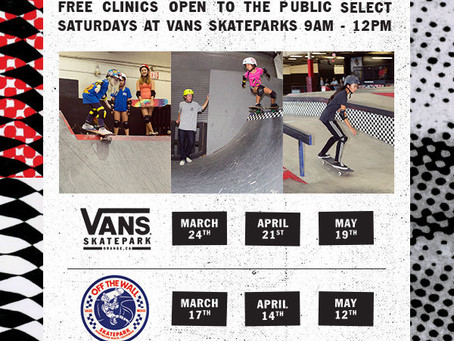 FREE TO THE PUBLIC - GIRLS SKATE CLINICS