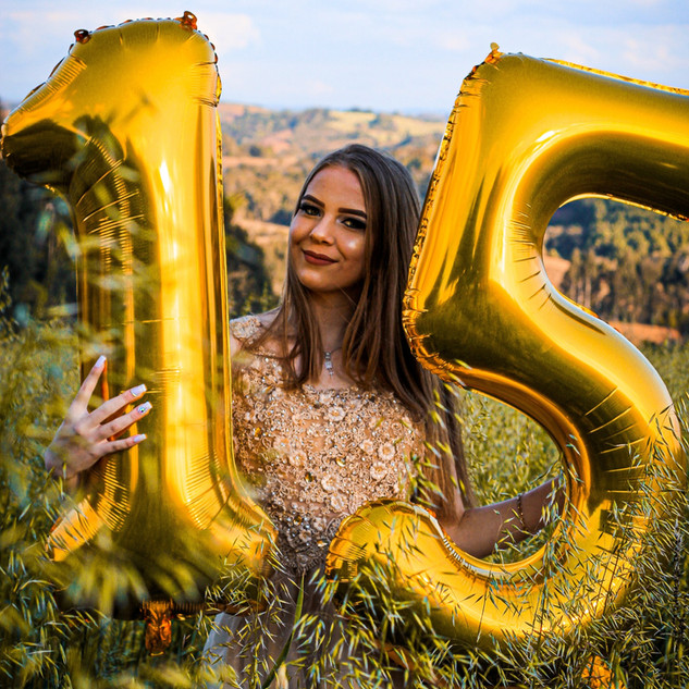 Quinceaneras Number Balloons