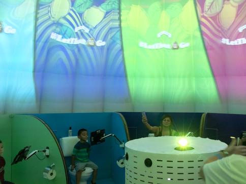 Pneuhaus Immersive Media Video Environment Brand Experience Poo Pourri Poop Emoji Vernacular Architecture Dome 360 degree video  Inflatable Art Architecture Experimental Event Temporary Architecture Parametric Architecture Textile Art Design