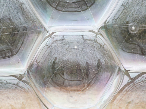 Pneuhaus Pneumatic Masonry No.1 Inflatable Art Architecture Public Art Festival Art  Modular Design Event Design Experiential Installation Futuristic Clear Sphere Temporary Event Architecture Experimental  Building System Lightweight Architecture Textile Art Dome