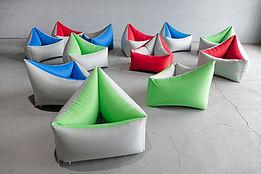 Tri Cushion Chairs by Pneuhaus Group