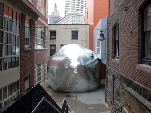 Pneuhaus Mylar Bubble Inflatable Art Inflatable Architecture Light Art Textile Art Immersive Installation Environment Commissions Experimental Temporary Event Architecture Mirror Room Dome Two Way Mirror Parametric Design