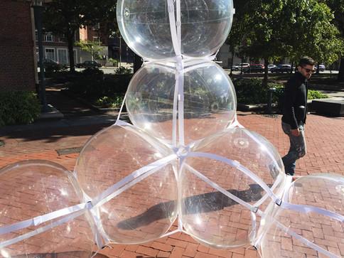 Pneuhaus Pneumatic Masonry Event Design Inflatable Art Sculpture Transluscent Floating Water Linear Public Art Festival Art Providence Canal RISD Light ARt