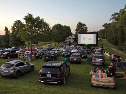 Pneuhaus Ragtag Cinema Popup Drive In Movie Inflatable Projection Screen Portable Festival Commission Portable Screen Missouri Festival
