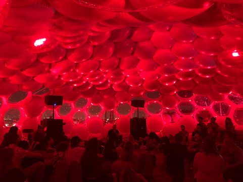 Pneuhaus Inflatable Event Architecture for Spotify Brand Experience Dome Tent Multimedia Environment Installation Modular Design Expanded Cinema Music Industry Event Design Experimental