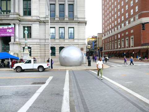 Pneuhaus Inflatable Art Camera Obscura Immersive Installation Inflatable Architecture Silver Dome Silver Sphere Building Room Experiential Art Light ARt Physics of Light Science Optical Art Temporary Architecture Wonder Curiosity Experimental Public Art