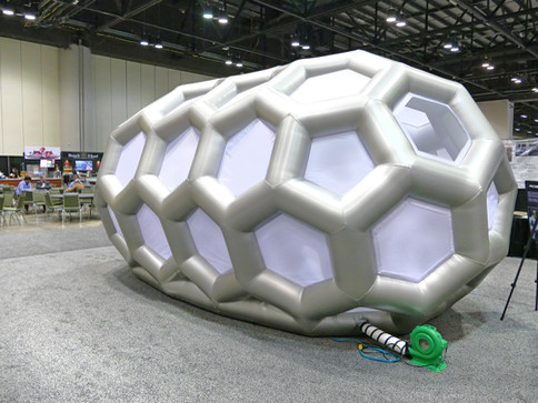Pneuhaus NASA Inflatable Kiosk Futuristic Design Geodesic Structure Inflatable Architecture Art Installation Capsule Kiosk Experimental Event Design Experiential Brand Design NASA Conference Display Sci Fi Art