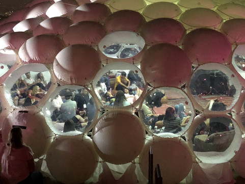 Pneuhaus Inflatable Event Architecture for Spotify Brand Experience Dome Tent Multimedia Environment Installation Modular Design Party Event