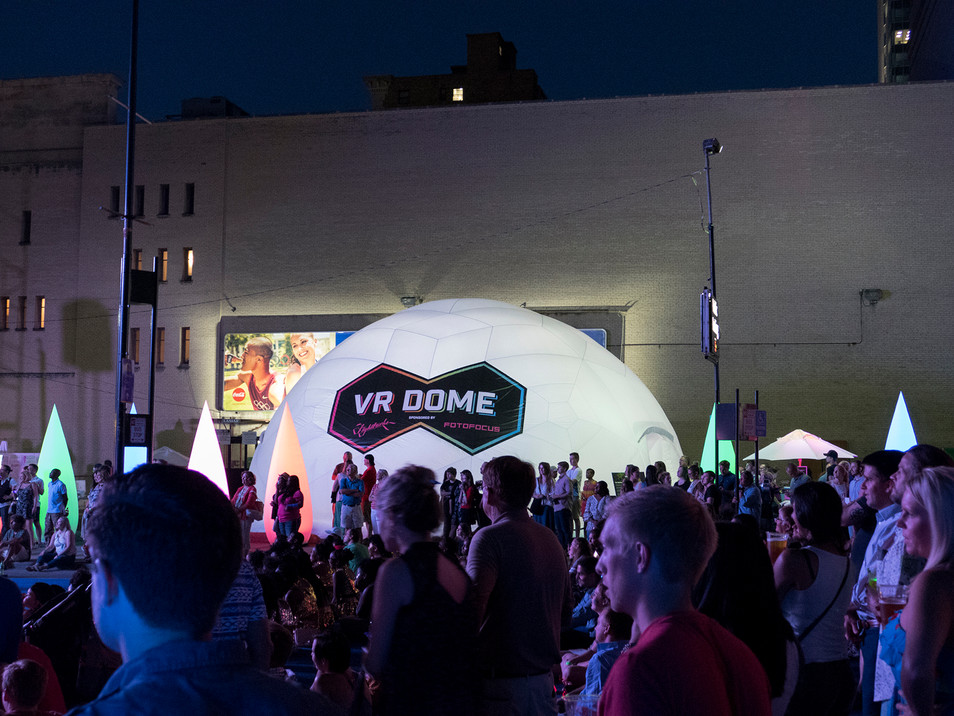 VR Dome at the Luminosity Festival