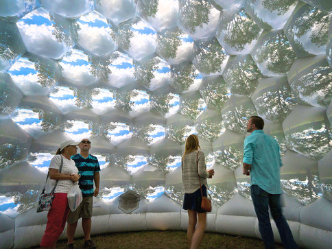 Pneuhaus Compound Camera Inflatable Art Architecture Experimental Event Space Experiental Art Installation Optical Interactive Science based nature inspired art artwork immersive dome geodesic futuristic design camera obscura pinhole camera live projection white dome multiplied view kaleidoscope psychedelic vision inspired light art installation festival art public art Pneuhaus Compound Camera Inflatable Art Architecture Experimental Event Space Experiental Art Installation Optical Interactive Science based nature inspired art artwork immersive dome geodesic futuristic design camera obscura pinhole camera live projection white dome multiplied view kaleidoscope psychedelic vision inspired light art installation festival art public art textile art wall of eyes interactive touch kids educational science sculpture