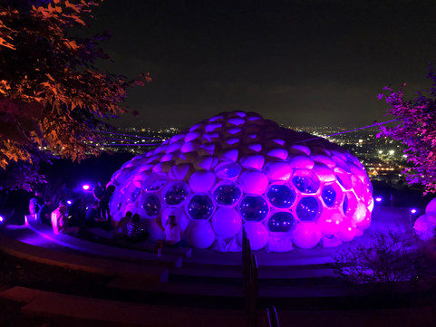 Pneuhaus Inflatable Event Architecture for Spotify Brand Experience Dome Tent Multimedia Environment Installation Modular Design