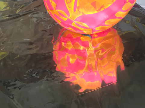 Pneuhaus Inflatable Art Light Art Festival Art Event Design Mirror Psychedelic Art Plant Nature Painting Collaboration with Take a Moment Collaborative Art Pink Yellow  Ball Toy Floating Kinetic