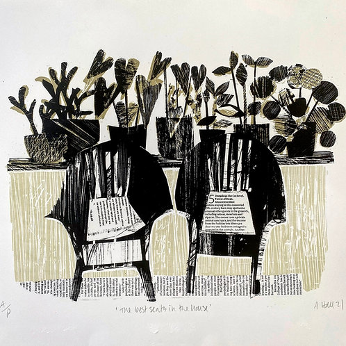 'The Best Seats In The House' - Silkscreen Print