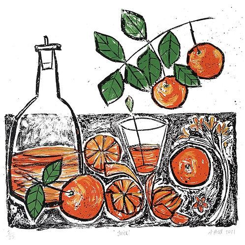 'Juice' Silkscreen Print