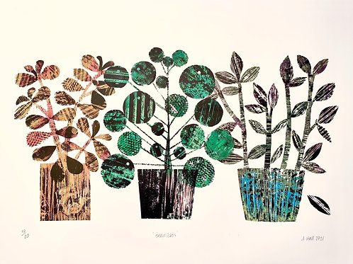 Silkscreen Print 'Green Goals'