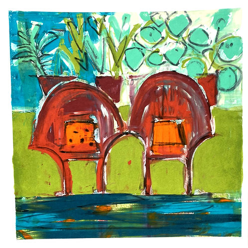 Mono Silkscreen Print - 'Best Seats in the House, no1 '