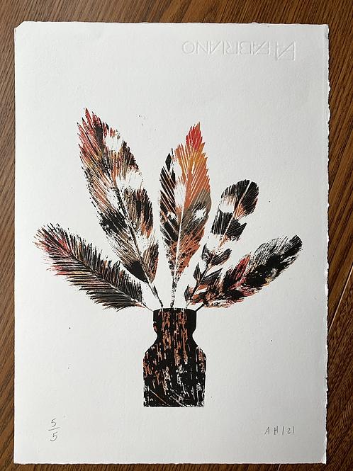 Feather Print 'Hope 2' - Original Silkscreen Print