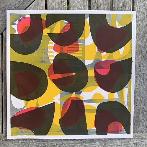 Silkscreen Paper Stencil 'Abstract Grid'