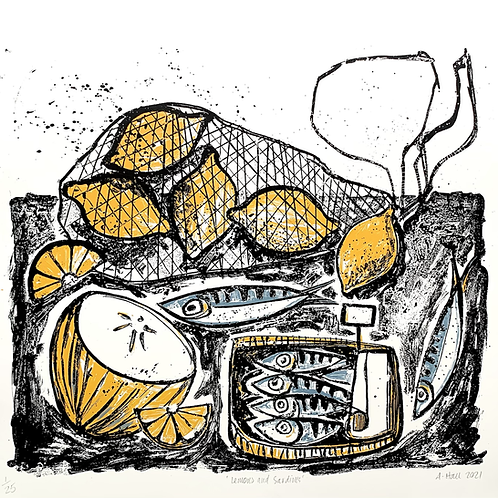 'Lemons and Sardines' Silkscreen Print