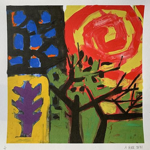 'Low Sun' Silkscreen Mono Print