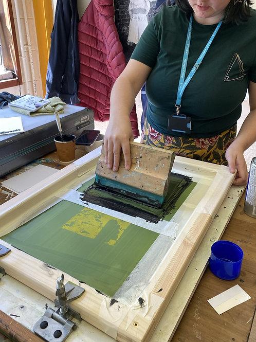 Silkscreen Printing Workshop at Sessay Village Hall 2nd October