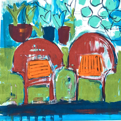 Silkscreen Mono Print 'Best Seats in the House' no 2
